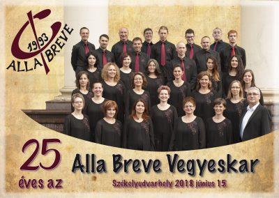 ALLA BREVE choir at 25th anniversary